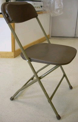 Where to find CHAIR, BROWN FOLDING in Burnsville