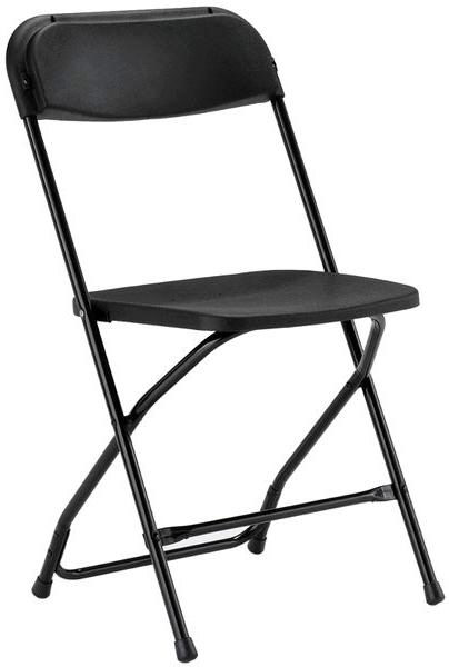 Where to find CHAIR, BLACK FOLDING in Burnsville