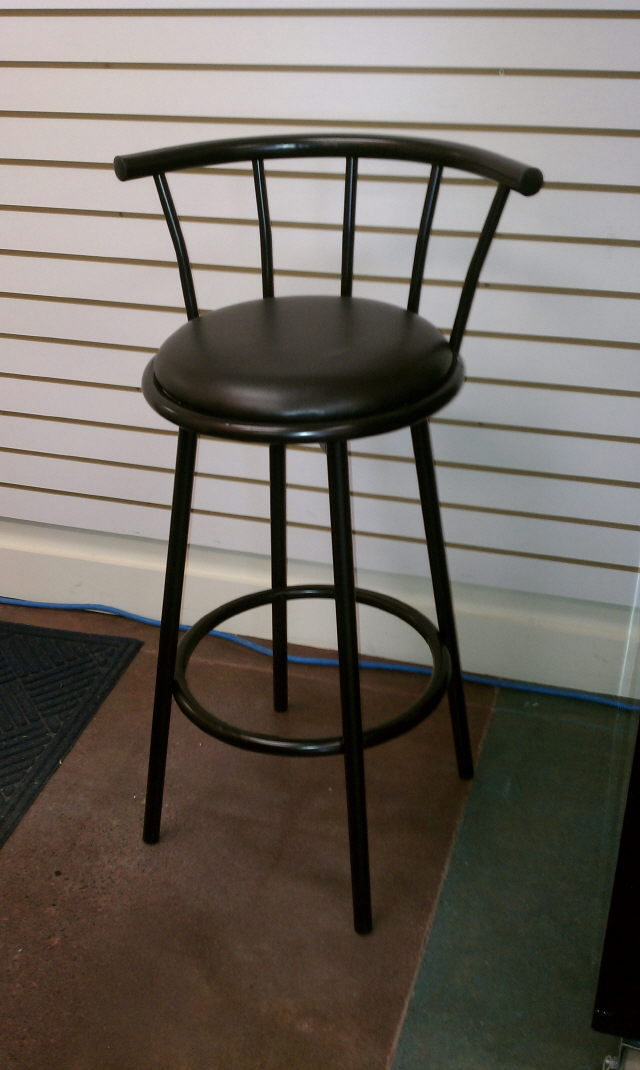 Where to find BAR STOOL W BACKREST BLACK SWIVEL in Burnsville