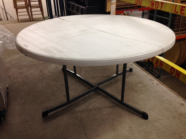Where to find Table 5  Round Folding Banquet Plastic in Burnsville