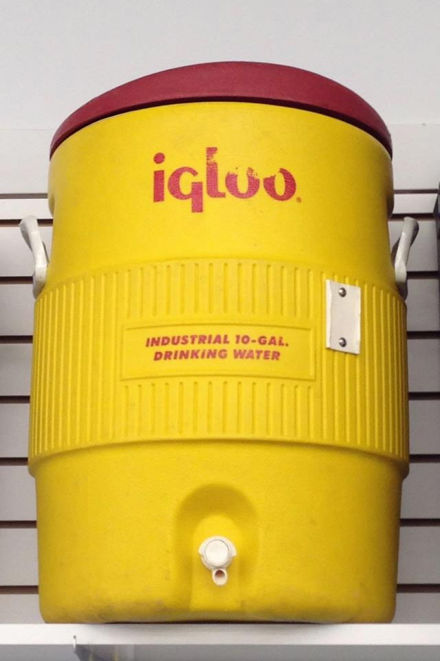 Where to find Cooler Dispenser Yellow10 Gallon in Burnsville