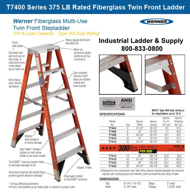 Where to find Ladder 14 Ft Fiberglass Step Twin Front in Burnsville