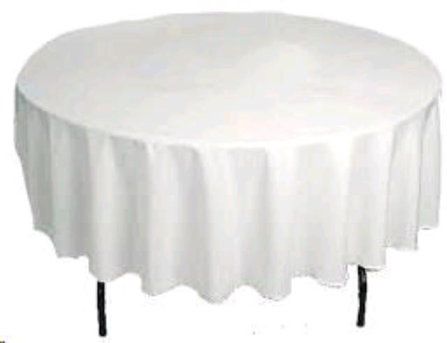 Where to find TABLE LINEN - 90  ROUND in Burnsville