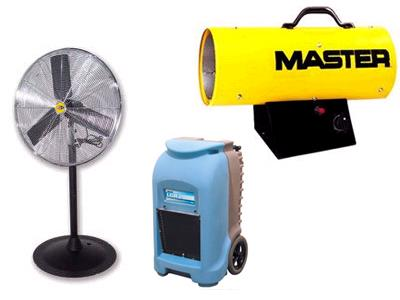 Rent Heaters, Fans, Dehumidifiers